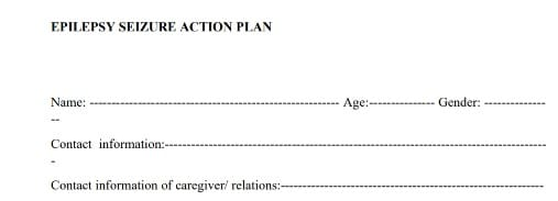 epilepsy action plan