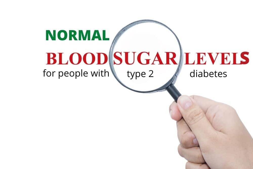 blood sugar levels for type 2 diabetes